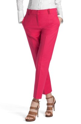 Blended cotton trousers 'Nadelle', Pink