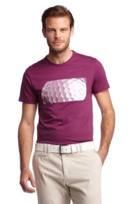 T-shirt ´Tee MK` met modieuze print op de borst, lichtrood
