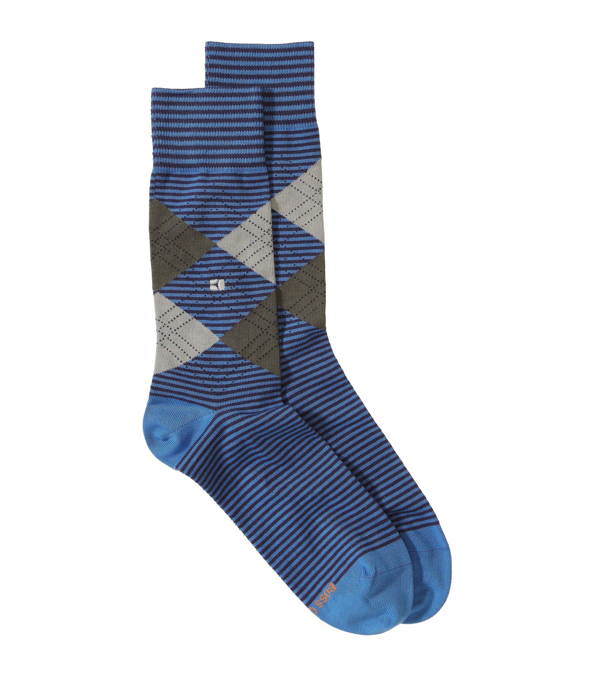 Socken ´Art/ApT` mit druckfreiem Komfortbund, Hellblau