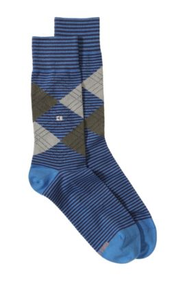 Chaussettes à bordure de confort, Art/ApT, Bleu vif