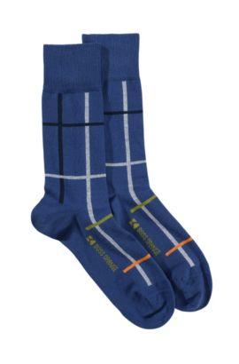Chaussettes en coton mélangé, RS Design, Bleu vif
