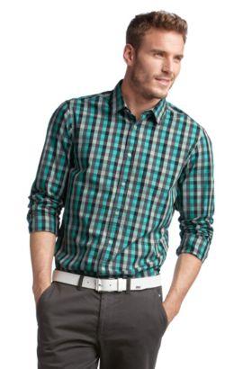 Freizeit-Hemd ´Bugsville` mit Kentkragen, Grau