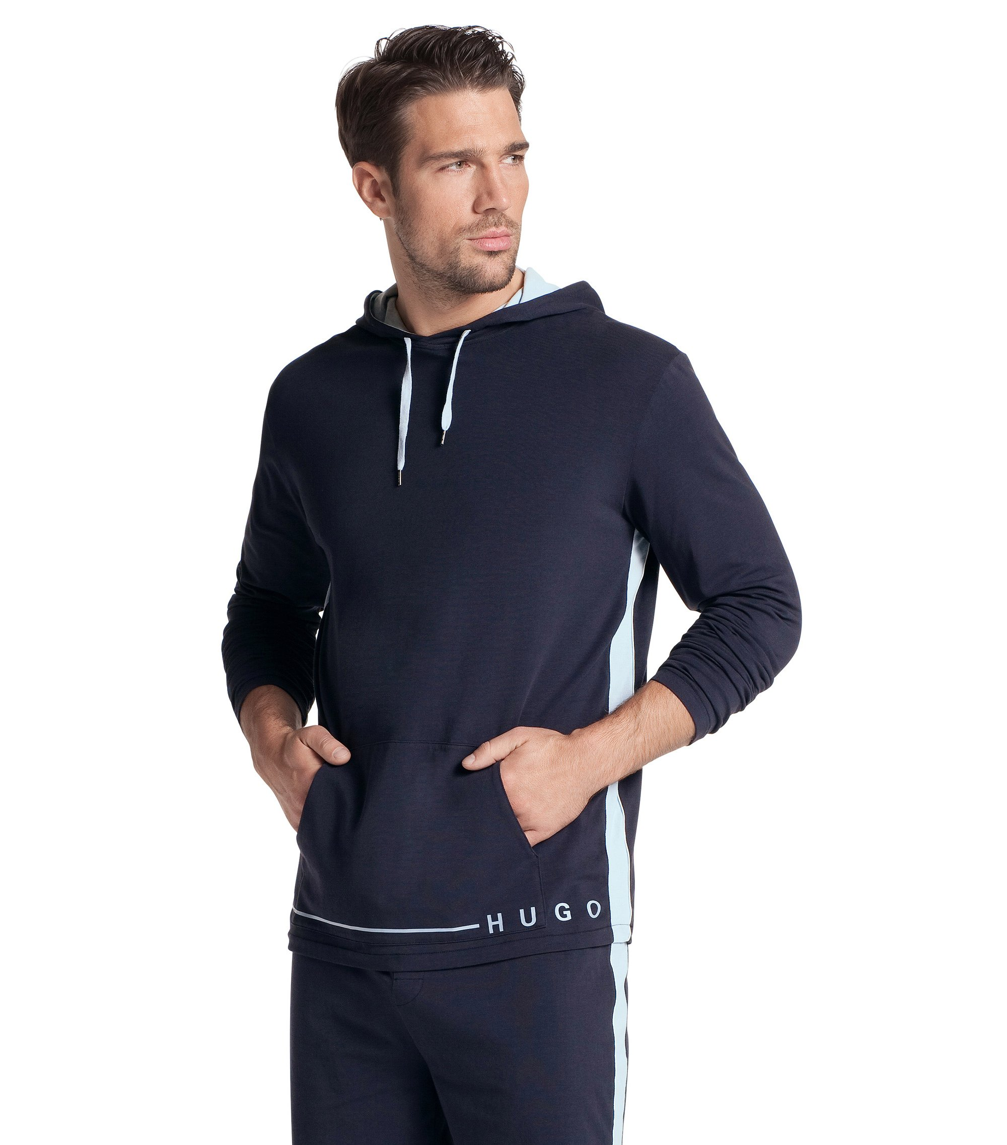 Sweat-shirt à capuche, Shirt Hooded LS BM, Bleu foncé