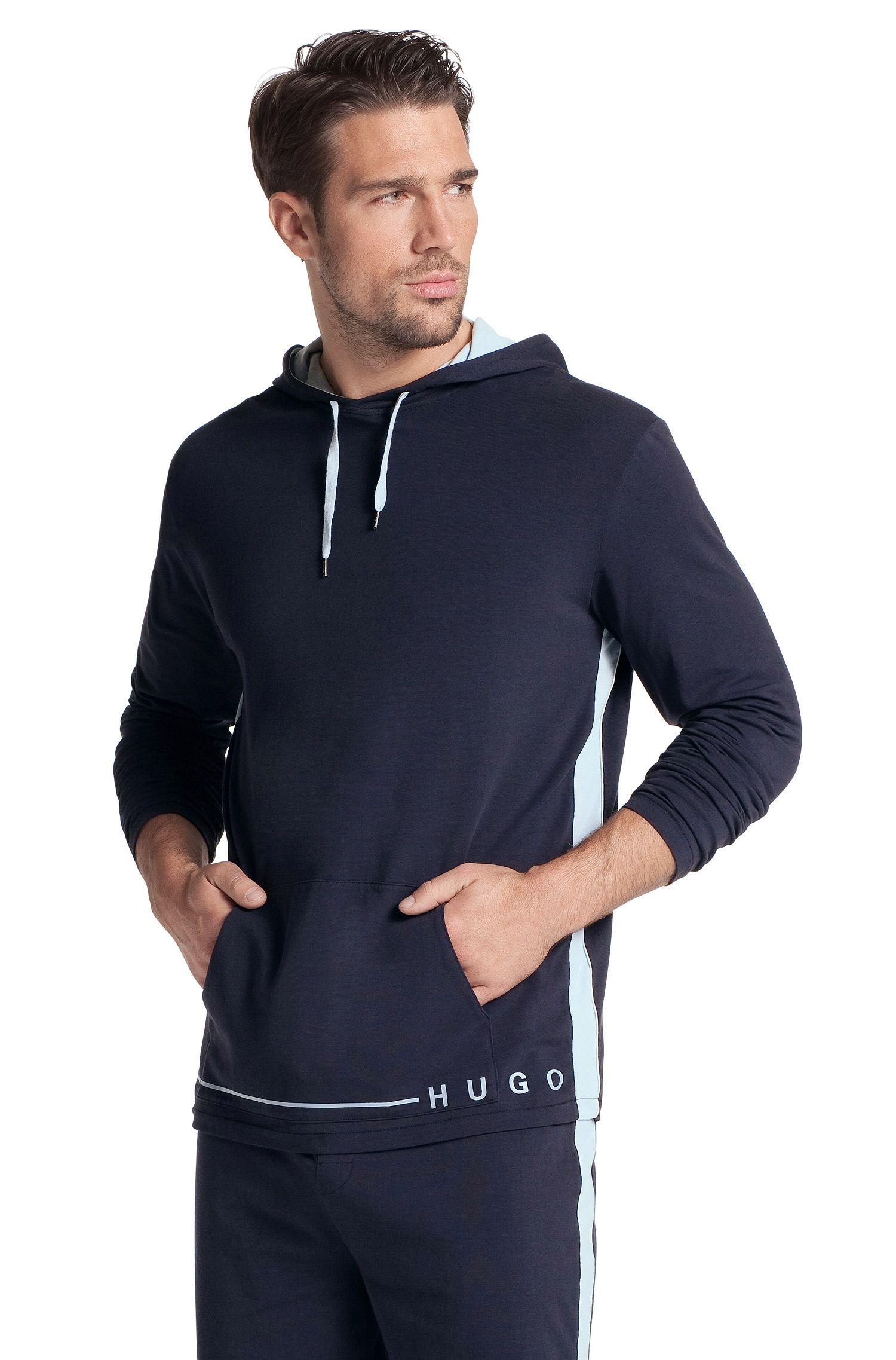 Sweat-shirt à capuche, Shirt Hooded LS BM, Bleu foncé
