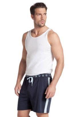 Short en coton mélangé, Short Pant CW BM, Bleu foncé