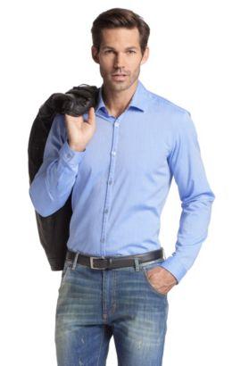 Freizeit-Hemd ´Riccardo` mit schmalem Kentkragen, Dunkelblau