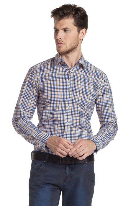 Casual shirt 'Ronny_21 Modern Essentials', Brown