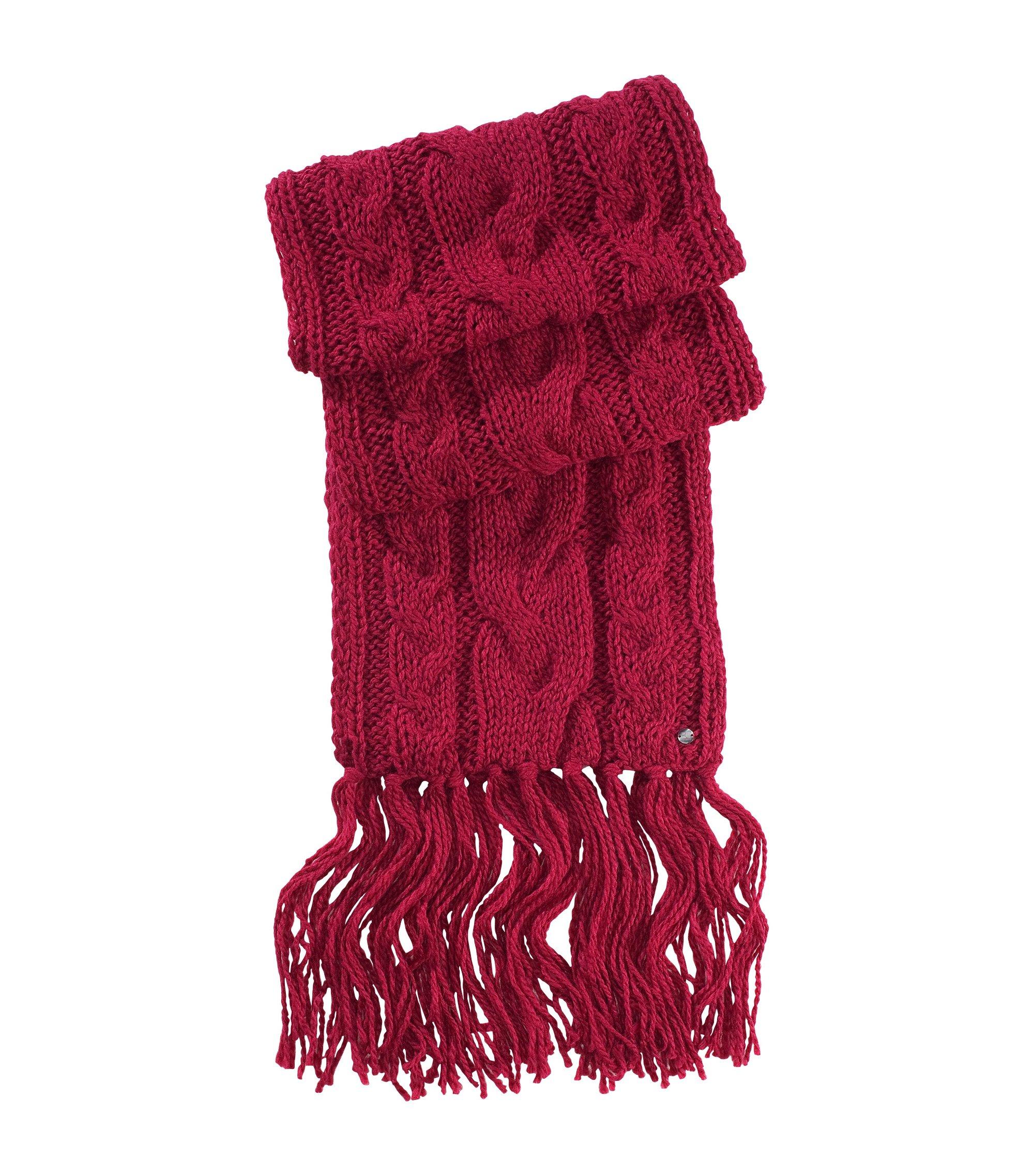Écharpe en laine mélangée, Nosane, Rose