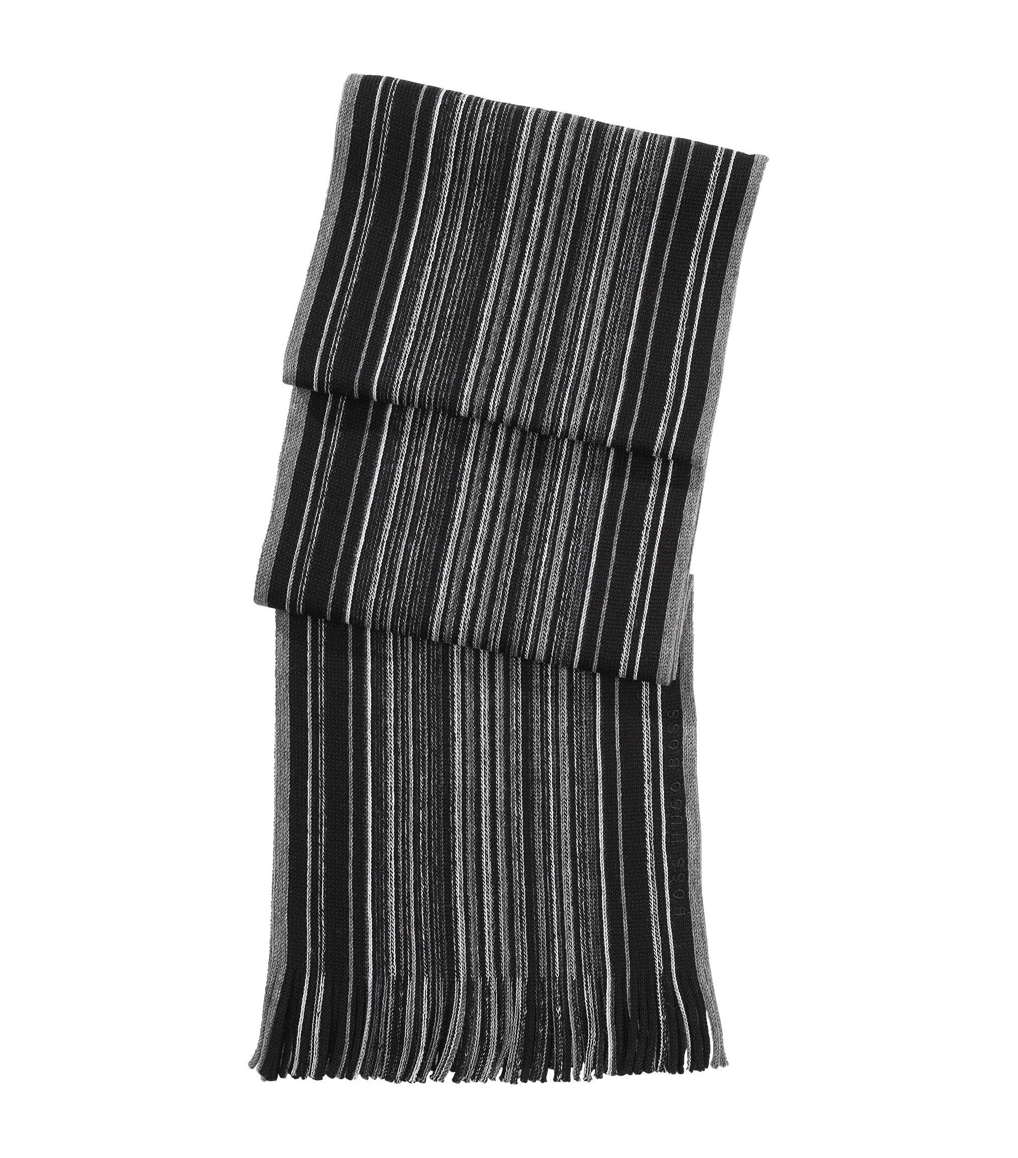 Sjaal ´Farion` van scheerwol, Zwart