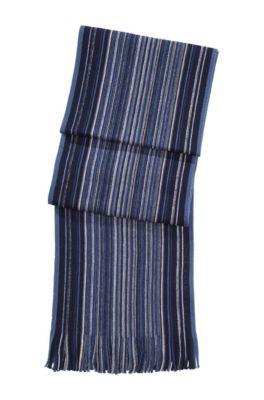 Sjaal ´Farion` van scheerwol, Donkerblauw