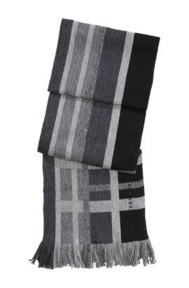 Écharpe en laine vierge, Famit, Noir