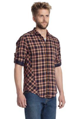 Freizeit-Hemd ´CaE` mit Mini-Kentkragen, Hellorange