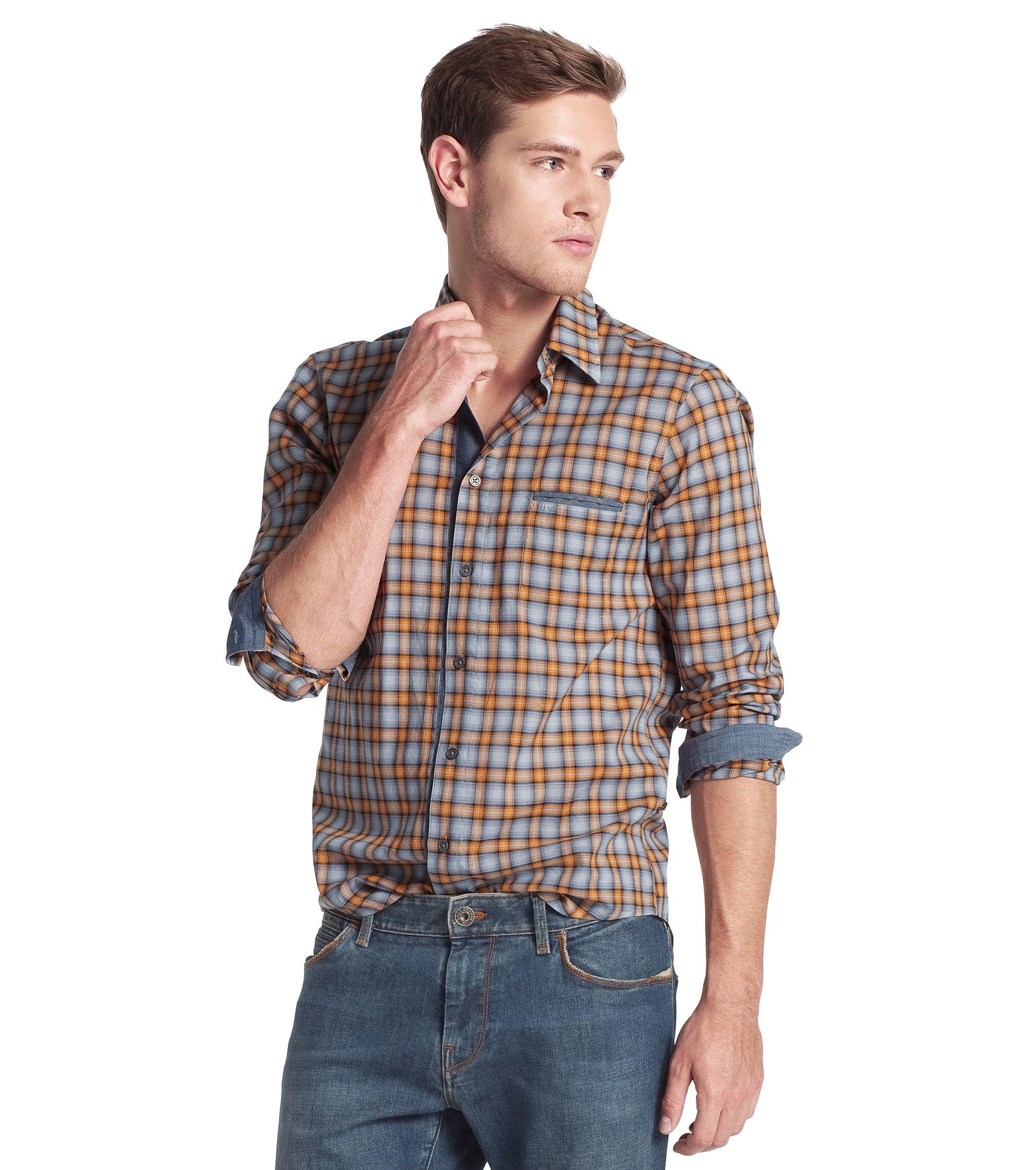 Casual shirt with a Kent collar 'CieloebuE', Open Orange