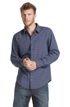 Freizeit-Hemd ´Cliff` aus Baumwolle, Dunkelblau