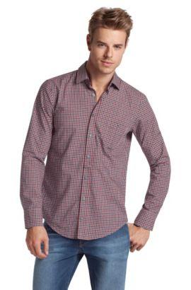 Freizeit-Hemd ´EgrifE` mit Kentkragen, Dunkelrot