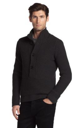 Pullover ´Syver` aus reiner Schurwolle, Anthrazit
