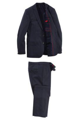 Costume en laine vierge, Amaro/Heise, Bleu foncé