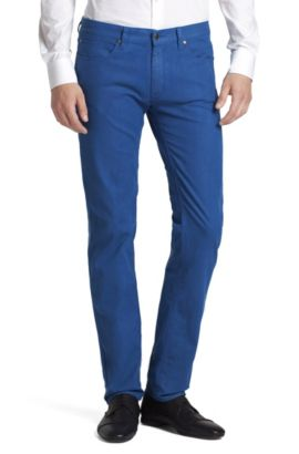 Jeans ´HUGO 708` mit Glanz-Finish, Blau