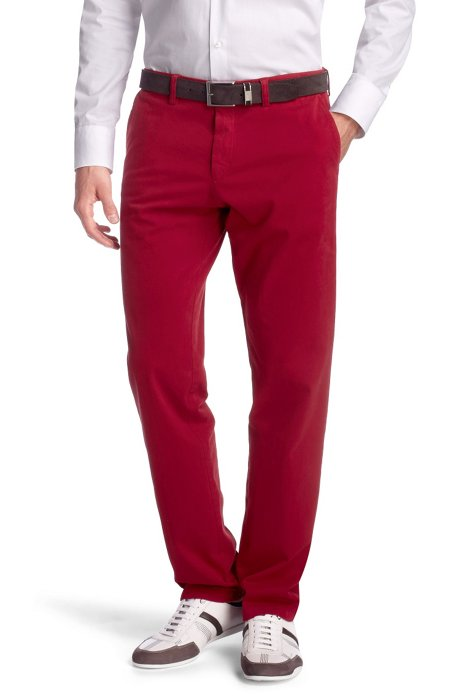 Regular fit casual trousers 'Crigan1-D', Red