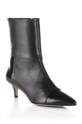 Patent detail ankle boot 'Sumie', Black