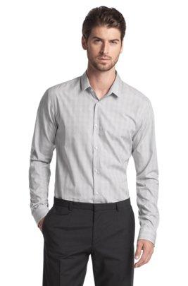 Casual shirt with Kent collar 'Ero', Grey