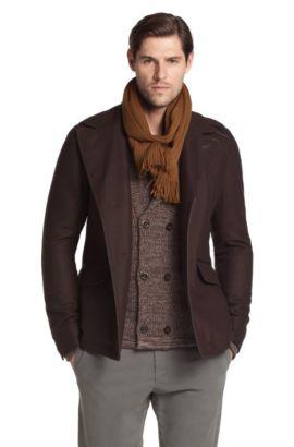 Manteau en laine mélangée, Carom, Marron foncé