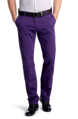 Chino ´Rice-1-D modern essential` mit Elasthan, Lila