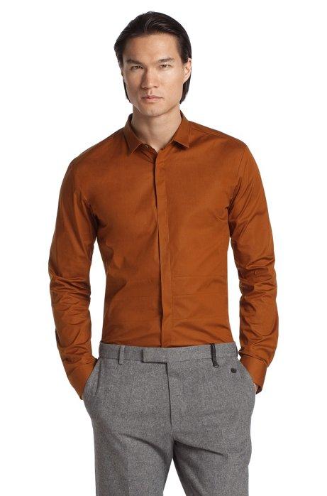 Casual shirt with Kent collar 'Esko', Brown