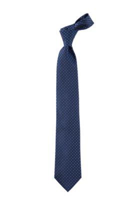 Cravate en pure soie, Tie 7,5 cm, Bleu foncé