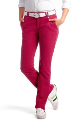 Pantalon chino tendance, Heliah-D, Rouge