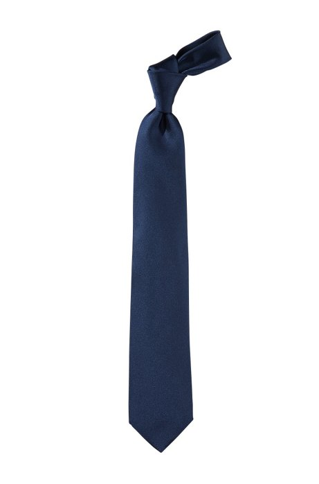 'Tie 7.5 cm' silk tie, Dark Blue