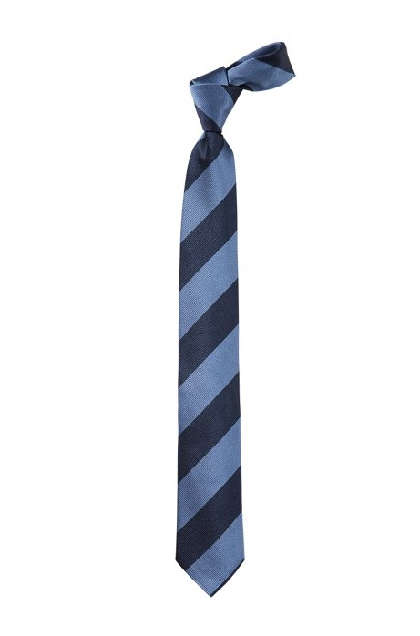 Pure silk tie 'Tie 6 cm', Open Blue
