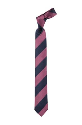 Cravate en pure soie, Tie 6 cm, Rose