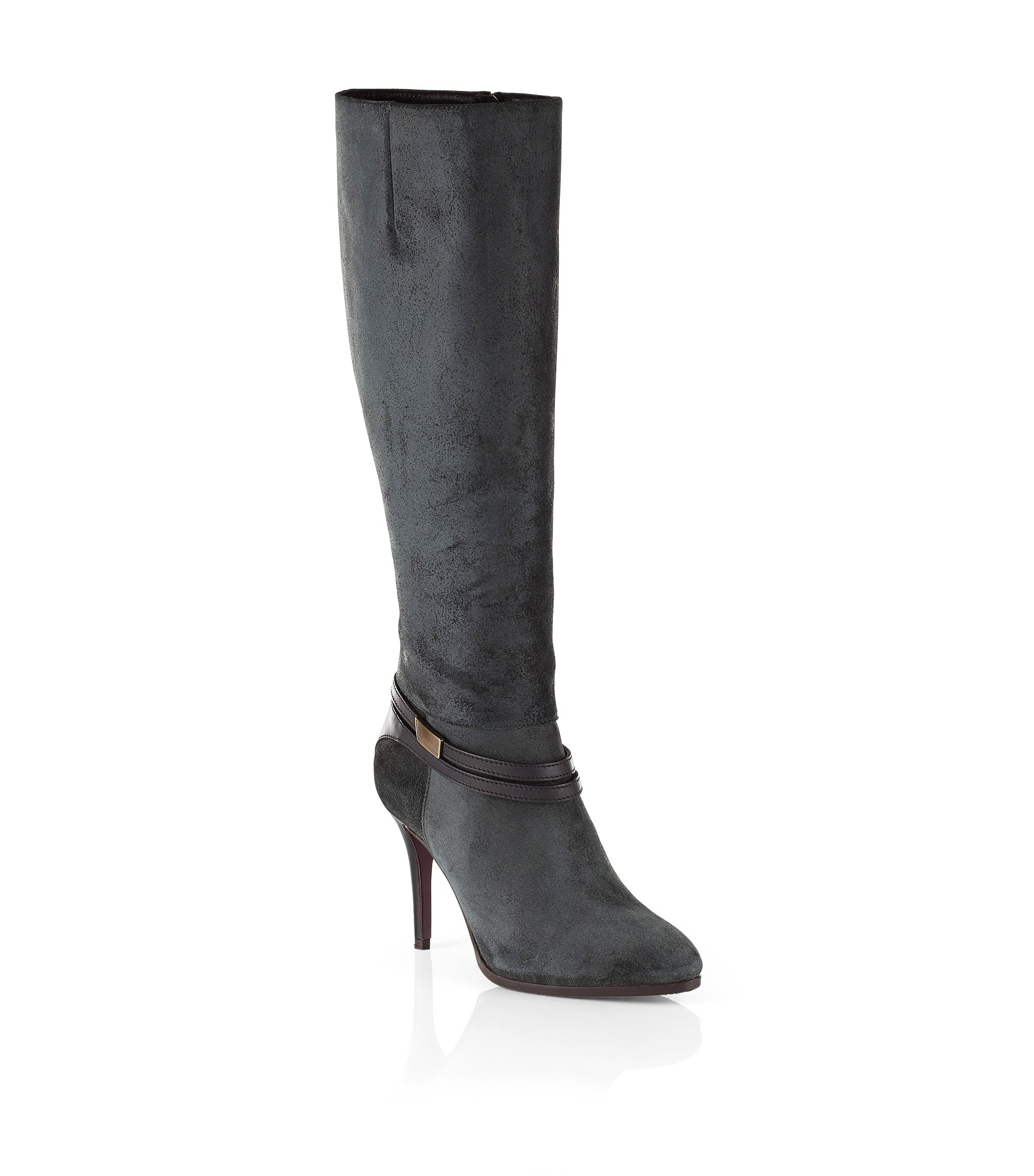 Leather boot 'Hariette', Black