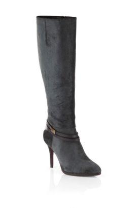 Stiefel ´Hariette` aus Leder, Schwarz