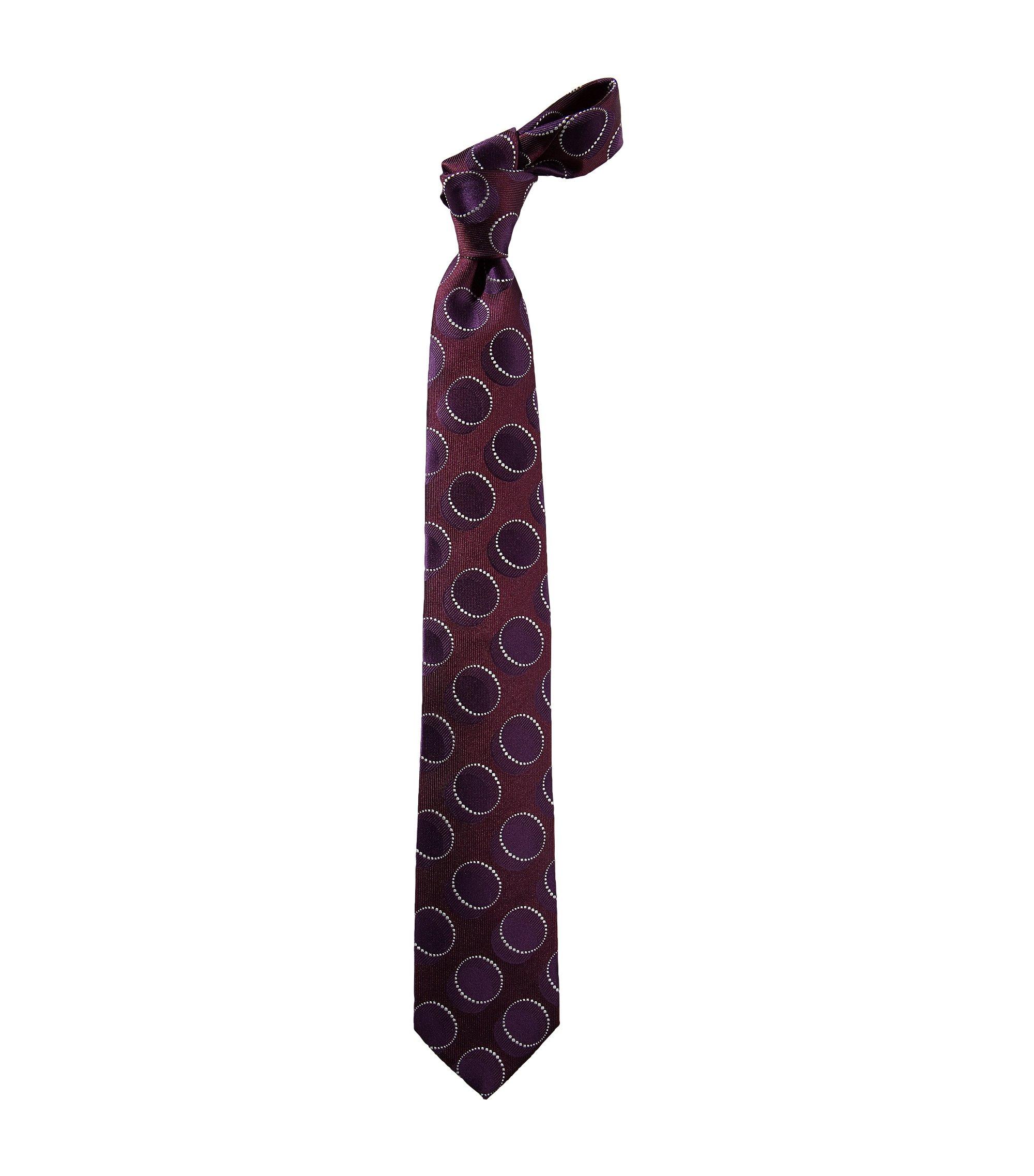 Cravate à motif rétro, Tie 7,5 cm, Violet foncé