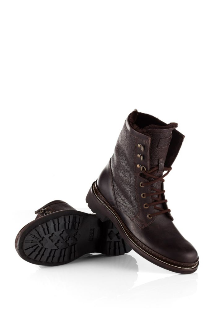 Leather lace-up boot 'Russon'