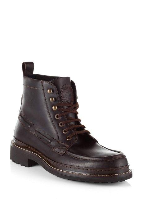 Calf leather boot 'Rubio', Dark Brown