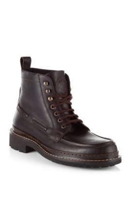 Boots ´Rubio` van kalfsleer, Donkerbruin