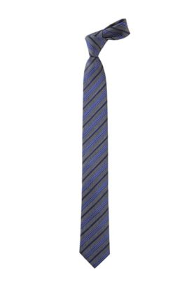 Cravate à motif à rayures, Tie 6 cm, Bleu vif