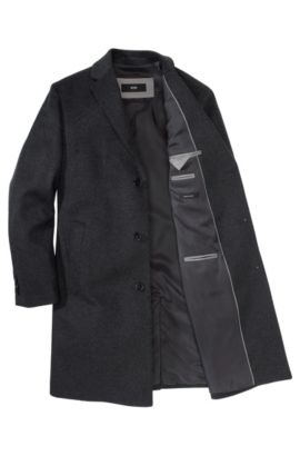 Manteau cachemire laine vierge, The Stratus3, Anthracite