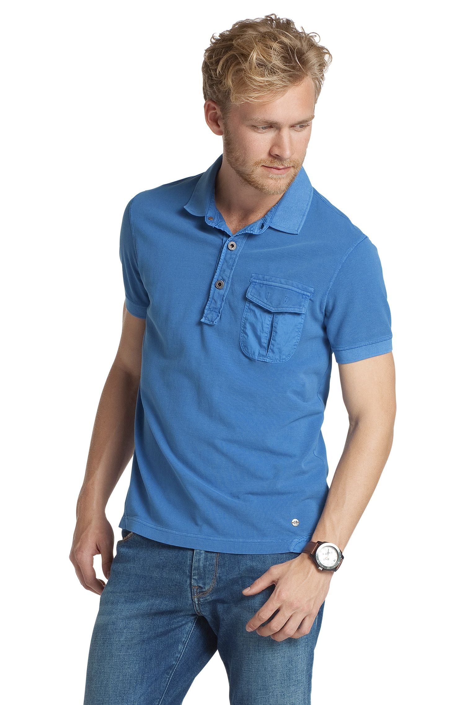 Poloshirt ´Pushkyn` met borstzak