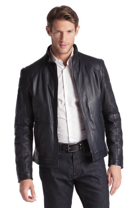 0d31fc5c BOSS - Outdoor jacket made of lamb leather 'Nikson'