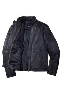 leather hugo boss jacket