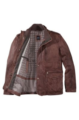 70b812e5 HUGO BOSS | Leather Jackets for Men | Premium Lambskin Jackets