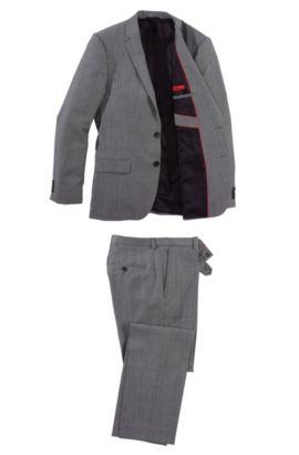 Anzug ´Amaro/Heise` aus Schurwoll-Mix, Grau