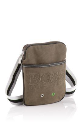 Bodybag ´Frobel` mit gestreiftem Textilgurt, Khaki