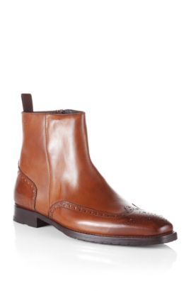 Boot with brogue pattern 'Clasor', Brown