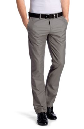 Pantalon chino Regular Straight Fit, Crigan1-3-W, Gris chiné