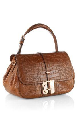 Handtasche ´Calanthia-C` aus Kalbsleder, Braun